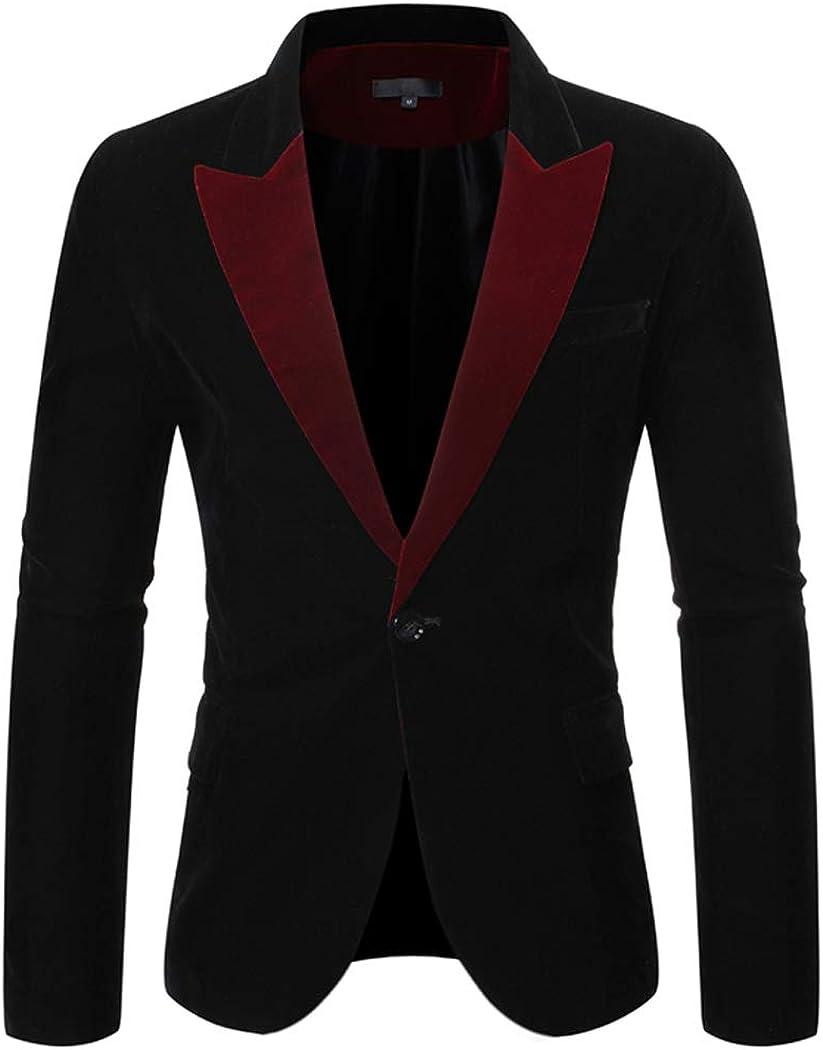 Men's Blazer Slim Fit Single Breated One Button Two Flap Pockets Corduroy Customized Size