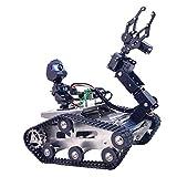 Foxom Programable Robot para Arduino Mega, Smart Robot Car Kit con WiFi, Bluetooth, Detectores de Obstáculos, FPV, Sensor Ultrasonico y Camara HD - Compatible con Arduino / 51duino etc