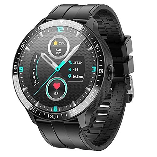 JHHXW Smart Watch, 1,28 Pulgadas TFT Círculo Completo Pantalla de Color Táctil, Bloqueo de contraseña de Pantalla, Llamada Bluetooth/Música, Multi-dial, múltiples Modos Deportivos, IP67 Impermeable
