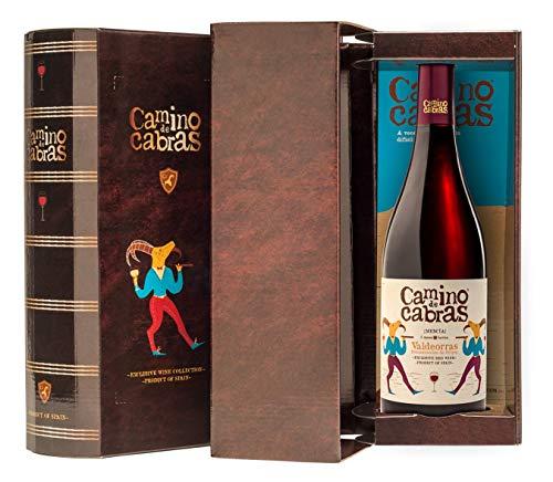 CAMINO DE CABRAS Estuche de vino - Mencía Crianza - vino tinto – D.O. Valdeorras – Producto Gourmet - Vino para regalar - Vino Premium - 1 botella x 750 ml.