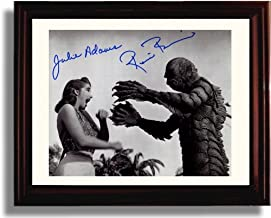 Framed Julie Adams and Ricou Browning Autograph Replica Print - Creature from The Black Lagoon