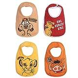 Disney Lion King Simba Timon Pumbaa Baby Boys 4 Pack Snap Bibs One Size