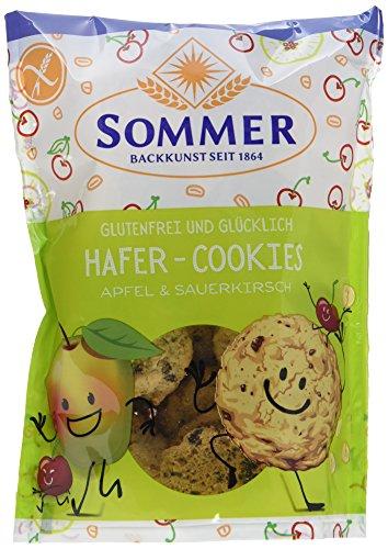 SOMMER Glutenfrei & Glücklich Hafer-Cookies Apfel & Sauerkirsch, 125 g
