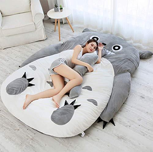 KJGLXD Colchón para niños Espesar Suave Totoro de Dibujos Animados Tatami Felpa Perezosa Almohadilla para Dormir Lindo Saco de Dormir Sofa Cama, Adecuado para Dormitorios,130 * 200cm/51.38 * 79.1inch