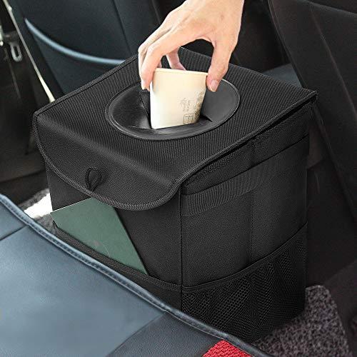 Samoleus Auto Mülleimer mit Deckel, Wasserdicht Auslaufsicher Abfalltasche Auto, ZusammenfaltbareOrganizer Abfall-Tasche für Unterwegs