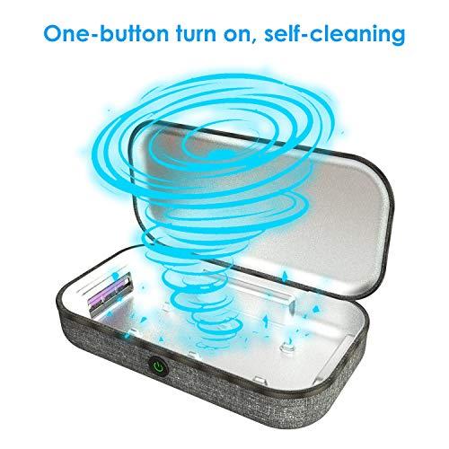 Slimme telefoon sterilisatie doos UV sterilisator tandenborstel, bril, horloge, draagbare multifunctionele koffer USB opladen