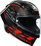 AGV Helm PISTA GP RR MULTI PERFORMANCE Carbon Red MaxVision Pinlock Trinksystem, L 60/61