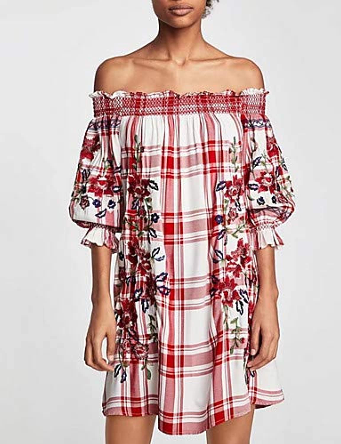 Women's Going Out Shift Dress Boat Neck
