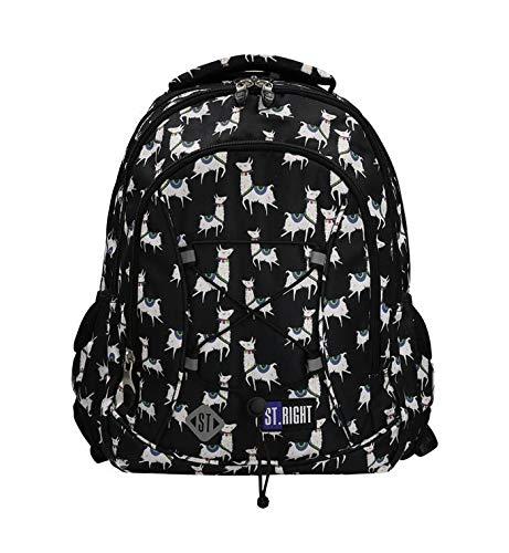 Rugzak | trendy schoolrugzak | dagrugzak met elastiek 24 l meisjes jongens laptopvak | school vrije tijd | vakantie | picknick