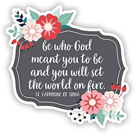 Cute Christian Quote Sticker for Laptop, Water Bottle, Notebook, 3 Inch, Pack of 3