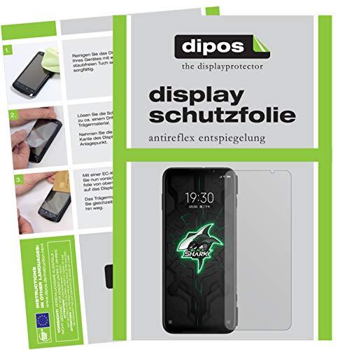 dipos I 5X Schutzfolie matt kompatibel mit Xiaomi Black Shark 3 Bildschirmschutz-Folie (Kleiner als das Glas, da Dieses gewölbt ist)
