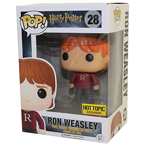 Funko POP! Harry Potter: Ron Weasley con el jersey con la R Exclusivo