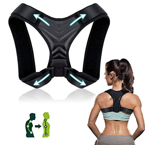 Corrector de Postura, Corrector de Postura Espalda y Hombro para Hombre y Mujer Transpirable, Talla Asjustable Faja Espalda Recta Soporte ✅