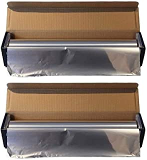 Ox Plastics Aluminum Foil Wrap   Heavy-Duty, Commercial Grade for Food Service Industry   Silver Foil for Cooking, Roastin...