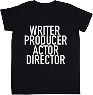 Rundi Writer Producer Actor Director Unisexo Niño Niña Camiseta Negro Todos Los Tamaños - Unisex Kids Boys Girls's T-Shirt...