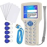 CIFY Copiadora/programadora de Tarjetas HID ID IC, Lector NFC, 10 Frecuencias 125 KHz 13,56 MHz RFID Access Writer/Reader/Duplicador, con Interfaz USB, 10 Tarjetas T5577 / UID gratuitas