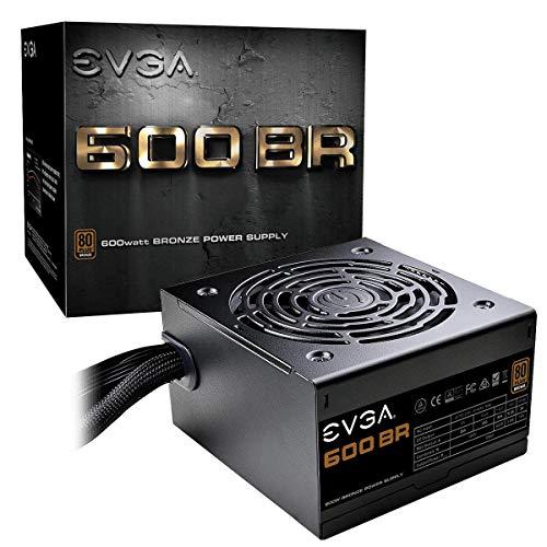 EVGA 600 BR Netzteil 600 W ATX Schwarz - Netzteile (600 W, 100-240 V, 50-60 Hz, 4 A, Aktiv, 130 W), 100-BR-0600-K3