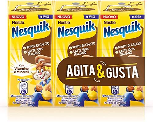 Nesquik Pronto da Bere Bevanda a Base di Latte e Cacao Solubile - 8 Confezioni da 3 x 180 ml