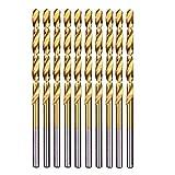 Herramientas de Cjianhua 10PCS / Set 5,5 mm vuelta de hélice Brocas HSS tierra DIN338 totalmente recubierto de titanio de la carpintería de madera Métricas de perforación herramienta for metales Todo