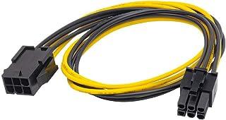 AKYGA AK CA 46 PCI E 6 pin Buchse auf PCI E 6 pin Stecker Adapter Kabel 40cm