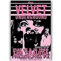 Suuyar ロックンロールミュージックバンドベルベット地下壁アートポスターとプリントリビングルームカフェのキャンバスに印刷-24X32インチX1フレームレス