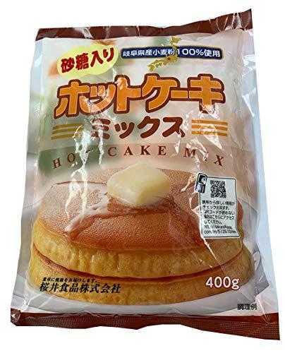 桜井食品 砂糖入ホットケーキミックス 400g