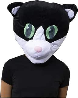 Black and White Tuxedo Kitty Cat Mascot Head Plush Costume Halloween