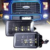 Upgrade LED Fog Lights for 2015-2019 Ford F150 4 Inch LED Fog Light Assembly Kit,36W Waterproof LED Bumper Lamps Set-1 Pair