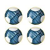 Cuencos Cuencos de inmersión de cerámica Set Mini Sazonador Snack Snack Sirviendo platos Platos Sart Sarting Sirviendo Tazones Japonés Estilo Plato de plato de múltiples platos para preparación