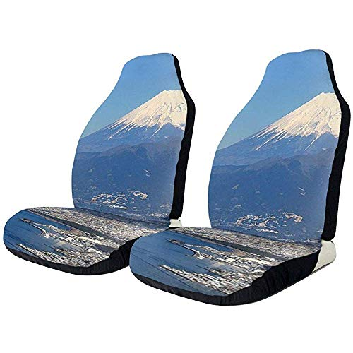 Beth-D Autositzbezüge, Numazu Und Mount Fuji Autositzbezüge 2Er-Set Fahrzeugsitzschutzbezüge Universal Fit Full Set