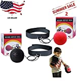 Boxing Reflex Ball,Training at Home, Ball On String, Punching Fight React Head Ball with Headband, Speed Hand Eye Reaction and Coordination Boxing Equipment for Kids and Adults