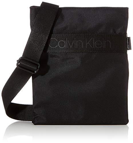 CALVIN KLEIN Men's NASTRO Logo Flat Crossover, Black, OS