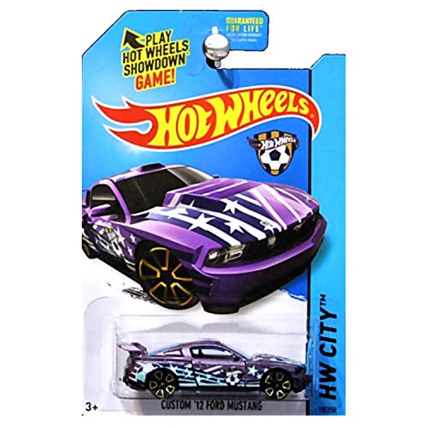 Hot Wheels 2014 HW City HW Goal Soccer Custom 2012 '12 Ford Mustang Purple