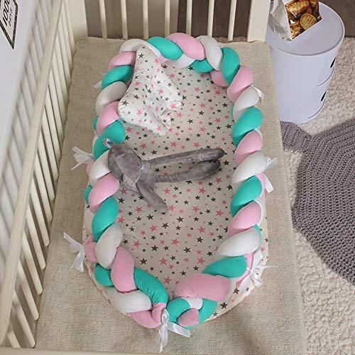 NADAEN BABY Berceau de lit Bionic Bed Sleep Newborn Toddlers Portable Lavable et Amovible pour Nouveau-né Dormir et Voyager,A