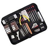 45 Pieces Guitar Repairing Maintenance Tool Kit,Haploon Guitar Setup Kit Repair Tools with Carry Bag for Guitar Ukulele Bass Mandolin Banjo