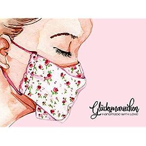 Behelfsmaske Damen/Kinder – GLÜCKSMARIECHEN Mundmaske Mund-Nasen-Maske
