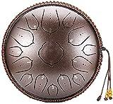 steel pan tamburo della lingua in acciaio da 14 pollici del tamburo della lingua in acciaio, 15 note strumento percussioni, tamburo armonico a mano, tank tamburo drum drum per meditazione, zen