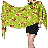 Yuanmeiju Bufanda de maíz dulce en verde, bufanda de cuello