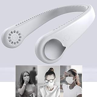Ventiladores USB Manos libres personales - 2020 Lo nuevo ventilador cuello acondicionador de aire portátil Mini Cooler - Batería recargable Desarrollado - 3 - Ajustes de velocidad para la oficina en