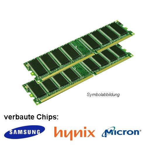2GB (2x 1GB) DDR 400MHz (PC 3200U) LO Dimm Computer PC Desktop Arbeitsspeicher RAM Memory Samsung Hynix Micron