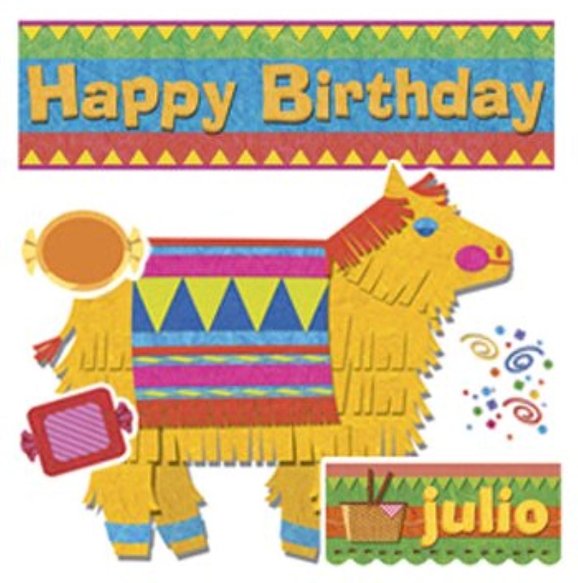 存在する詩社会Edupress Happy Birthday Pinatas Bulletin Board Set (EP-2258)