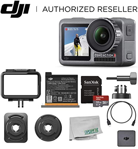 DJI Osmo Action 4K HDR Waterproof Camera Beginners Bundle - with Free SanDisk Ultra 32GB microSDHC