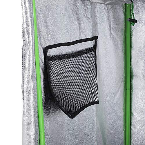 Outsunny Tenda da Coltivazione Idroponica in Mylar e Oxford 600D per Riflettere la Luce 60x60x140 cm