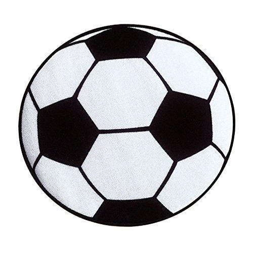 ALIKEE Tappeto Calcio Rotondo Soggiorno Salotto Stuoie Bambini Bambini Ragazzi Camera Da Letto Tappeto Sedia Tappeti Bagno Stuoie Bambino 60 cm