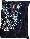 Vera Bradley Fleece Plush Throw Blanket, Java Navy Camo, 80' x 50'