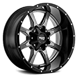 MOTO METAL MO970 Gloss Gray Center Gloss Black Lip Wheel with Painted and Chromium (hexavalent compounds) (20 x 9. inches /8 x 125 mm, 0 mm Offset)