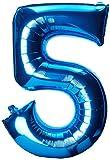 ToyCentre Globo de Aluminio Grande Número 5, Azul, 58 x 83 cm