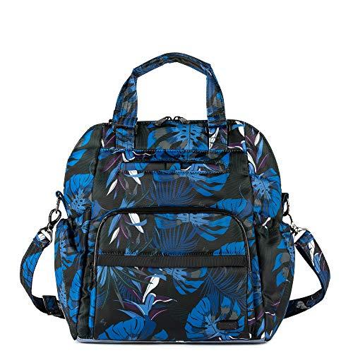 Lug Canter Shoulder Bag, Botanical Black