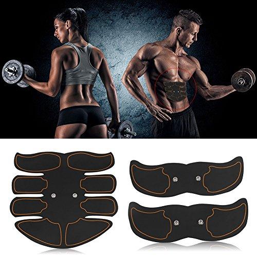 Cocoarm EMS Trainingsgerät Intelligente Bauchmuskeltraining Muskelstimulator Bauchmuskeltrainer EMS Muskelstimulator Elektrisch Muskeltrainer für Herren Damen zur Muskelaufbau und Fettverbrennung