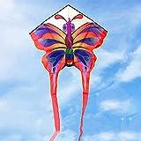 3D Cometa Colorida Mariposa Infantil 140 * 120Cm Realista Mariposa Cometa Juguete 200M De Una Sola Línea Con El Juguete De La Cola Al Aire Libre Para Adultos Niños De La Actividad Del Juego,kite